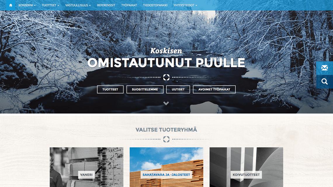 Koskisen verkkosivu-uudistus