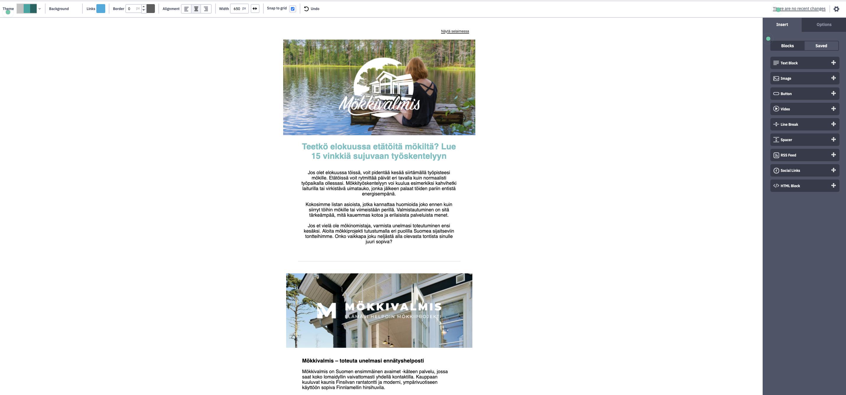 Active Campaignilla saa tehtyä hyvän näköisiä sähköposteja